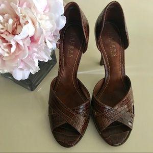 Ralph Lauren Callia Crocodile Leather 7 1/2M